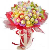 24 Pieces Ferrero Chocolate Bouquet
